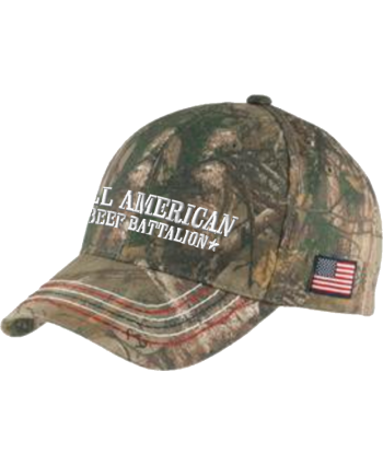 All American Beef Battalion - Port Authority® Americana Contrast Stitch Camouflage Cap